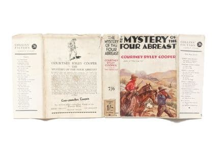 The Mystery of the Four Abreast by Courtney Ryley Cooper Dust Jacket Only First Edition Collins 1935