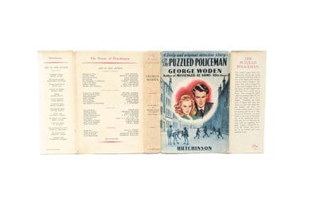 The Puzzled Policeman by George Woden Dust Jacket Only First Edition Hutchinson 1949