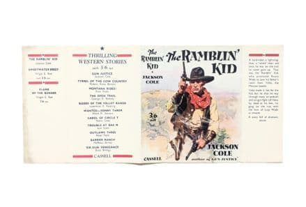 The Ramblin' Kid by Jackson Cole Dust Jacket Only First Edition Cassell 1933
