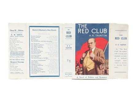 The Red Club by H. R. Taunton Dust Jacket Only First Edition Hurst & Blackett 1926