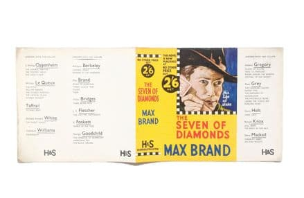 The Seven of Diamonds by Max Brand Dust Jacket Only Reprint Hodder & Stoughton 1935