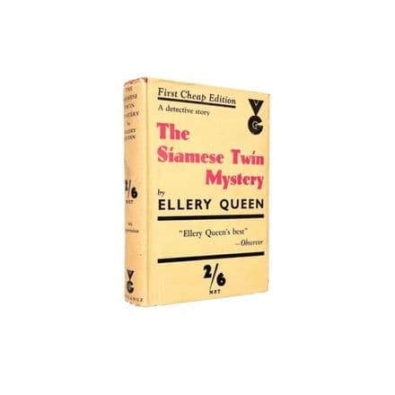 The Siamese Twin Mystery by Ellery Queen Reprint Victor Gollancz 1935