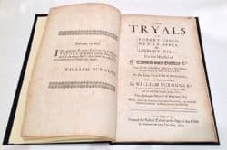 Tryals of Robert Green, Henry Berry and Lawrence Hill Hardback Robert Pawley 1679