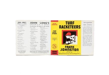 Turf Racketeers by Frank Johnston Dust Jacket Only First Edition John Long 1933