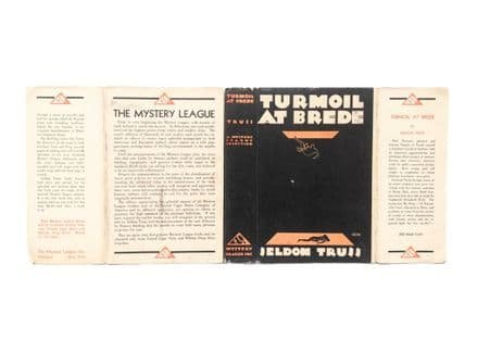 Turmoil At Brede by Seldon Truss Dust Jacket Only First Edition The Mystery League Inc. 1931