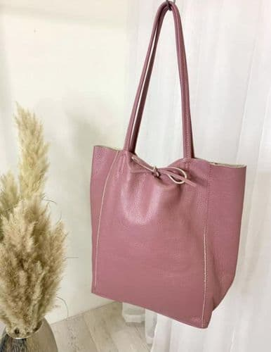 BUTTERSOFT LEATHER TOTE DAMSON