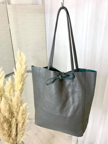 BUTTERSOFT LEATHER TOTE GREY