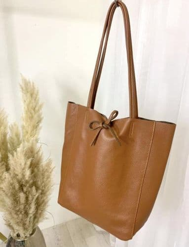 BUTTERSOFT LEATHER TOTE TAN