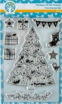 A6 Signs of the Season - Tree Stamp Set