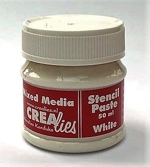 Crealies Stencil Paste - White