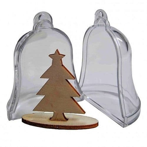Joy! Crafts - Transparent Bell with Wooden Christmas Tree