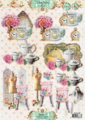 StudioLight Shabby Chic A4 Decoupage - 380