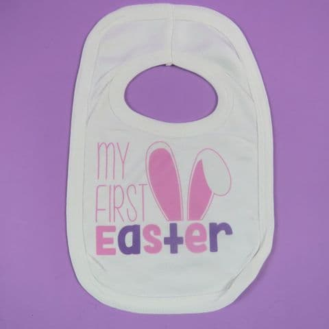 First Easter Bib Pink Babies first easter bib Easter gift 1st easter easter present new born baby