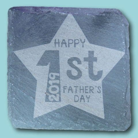 1st dad slate coaster   fathers day present   fathers day keepsake   dads coaster   daddy coaster