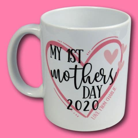 1st Mothers Day Mug | Best Mum Cup | Mothers Day Gift | Keepsake Gift | Coffee Lover | Present Mum