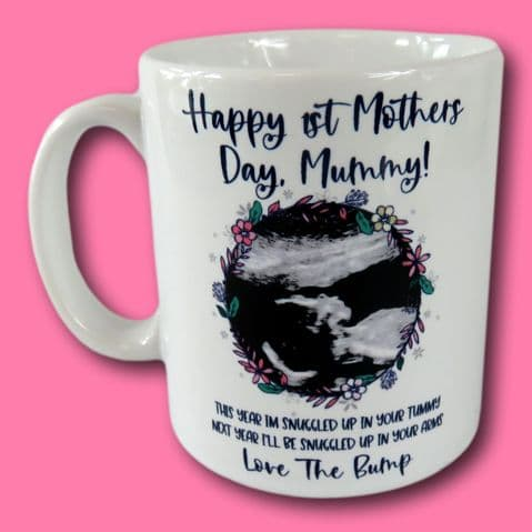 1st Mothers Day Mug | from The Bump Gift | Scan Photo Gift | Mothers Day Gift | Keepsake Gift