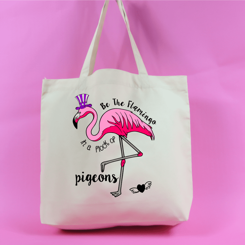Be the flamingo in a flock of pigeons Tote Bag - Neutral Colour