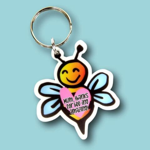bee-ing amazing keyring bee gift | motivational gift | bee keyring | bee lover | mum gift | bees