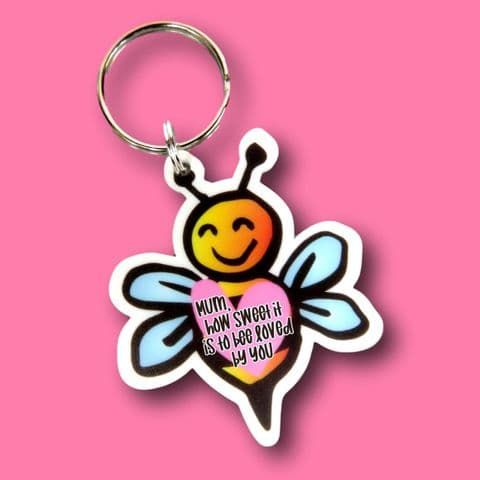 bee loved by you keyring bee gift | motivational gift | bee keyring | bee lover | mum gift | bees