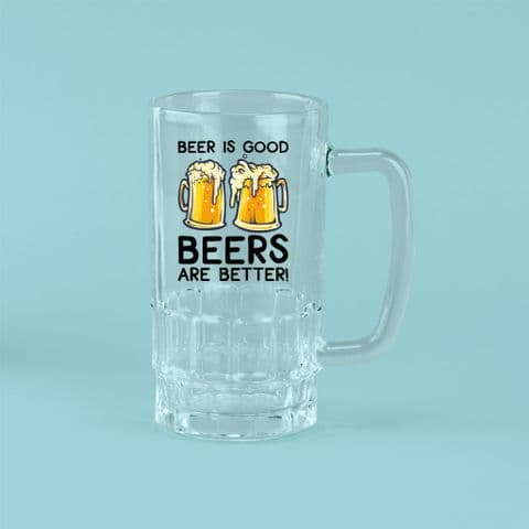 Beer is Good Glass | Funny Beer Glass | Birthday Gift | Fathers Day | Personalised Beer Glass | 18th