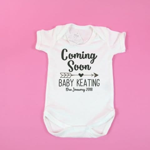 Birth announcement idea ~ Coming soon ~ Personalised Baby announcement ~ Pregnancy gift