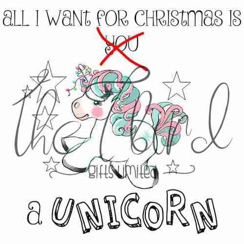Christmas Unicorn Christmas Decoration Christmas Present Retro Vintage Xmas Gift Xmas