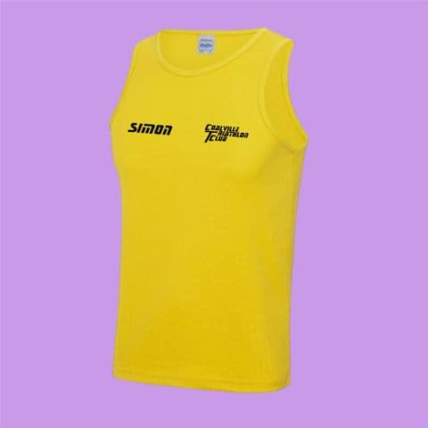 Coalville Triathlon Club Running Vest  - Black or Yellow - Mens and Womens