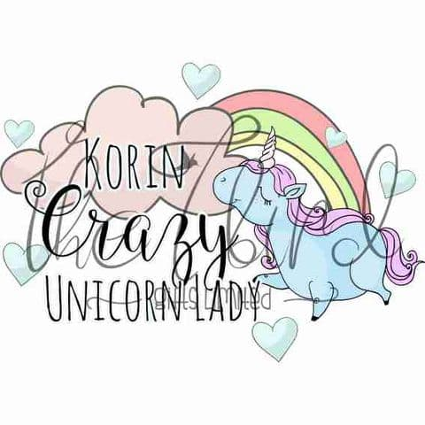 Crazy Unicorn Lady ~ Inspirational Design ~ Unicorn Gift ~ Unicorn Lover ~ Quirky Present
