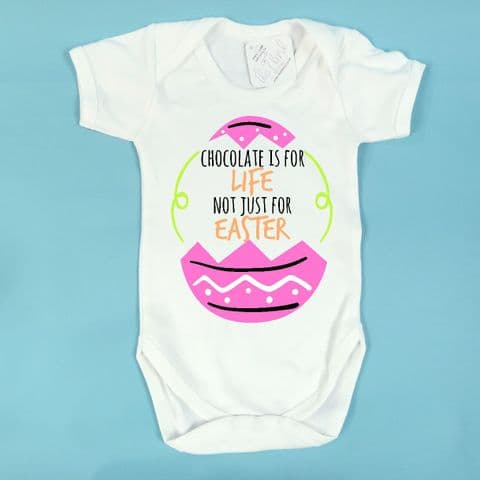 Easter Baby Vest Chocolate is for Life Funny Easter Vest First Easter Present Easter Onesie 1st