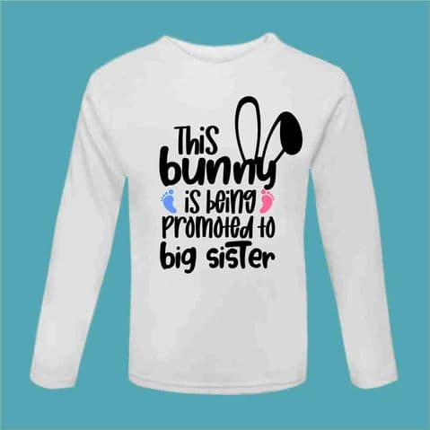 Easter Tshirt | Funny Easter Tee | Promoted to Big Sister | Funny Chocolate Gift | Sibling Present