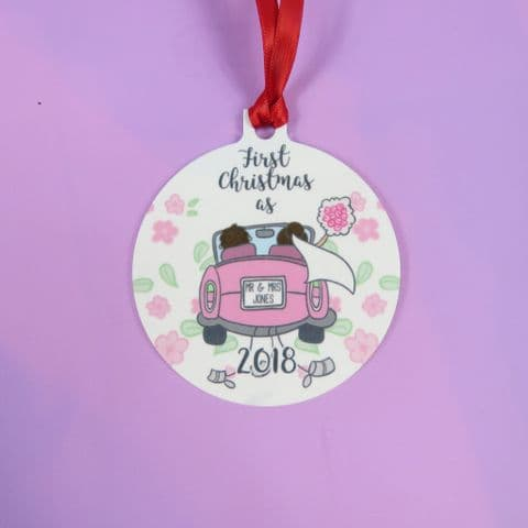 First Christmas as Decoration Wedding Present Xmas Decoration Vintage Car Decoration Wedding