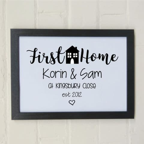 First Home Print | New home Art | Funny Art |First house gift Print | Wall Decor | Home owner