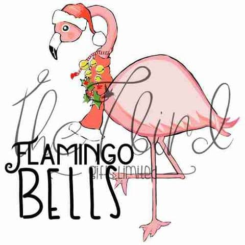 Flamingo Bells Christmas Decoration Christmas Present Retro Vintage Xmas Gift Xmas Ornament