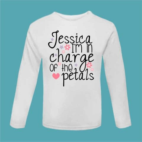 Flower Girl Tshirt Will You Be Our Flowergirl In Charge Of The Petals Present Wedding Gift Be Our