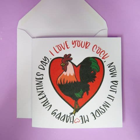 Funny Valentines Card | birthday Card | Funny Valentines Card | love your cock | Anniversary Card