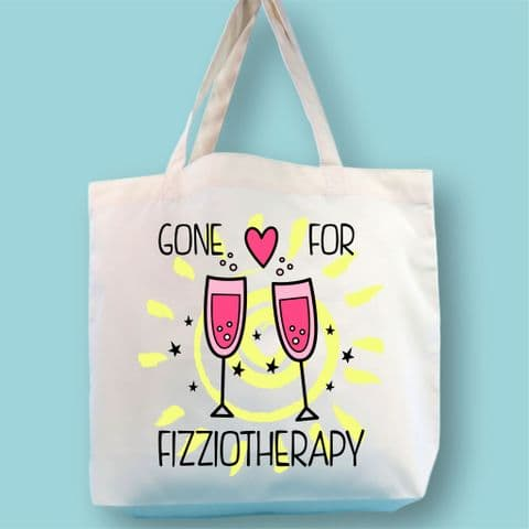 Gone for Fizziotheraphy beach bag | holiday bag | summer tote bag | beach bag | travel bag | tote