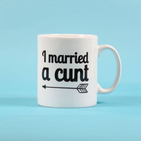 I married a cunt just married mug wedding cup Wedding Present Gift Newlyweds Gifts for Couples