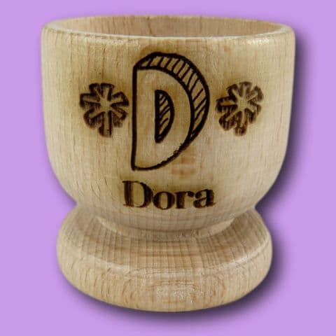 Initial Name Wooden Egg Cup | Letter Name Egg Cup | Personalised Egg Cup | Egg Holder | Soldiers Egg