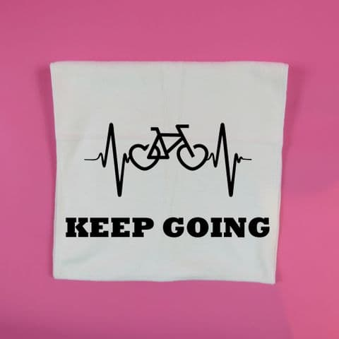 Keep going personalised bike towel turbo trainer spin class gym glass workout towel 30 x