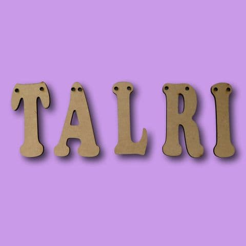 Letters Shape Craft Alphabet Shape Embellishment 3mm Thick MDF Wood Design Project x10 Wooden Blank