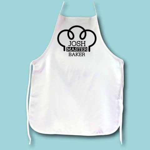 Master Baker Apron | Funny Apron | Personalised Master Baker Gift | Chef Gift | Foodie Gift | Cook
