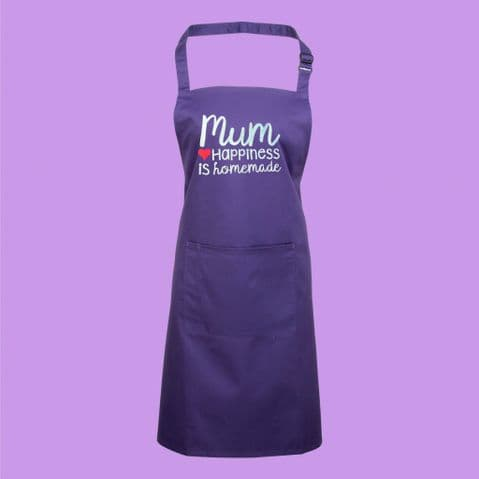 Mum Apron | Mothers Day Gift | Happiness is Homemade | Cooking Chef Baking Mum | Mother's Day Apron