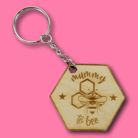 Mummy to bee Keyring Personalised mothers day gift wooden bee gift grandparent gift keyring House