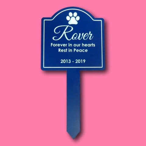 Personalised Engraved Memorial Plaque Stake Waterproof Pet Memorial Grave Marker Plaque Outdoor