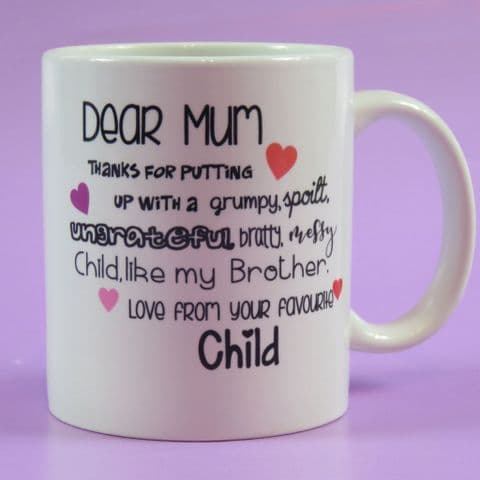 Personalised Mother's Day Mug | Favourite Child