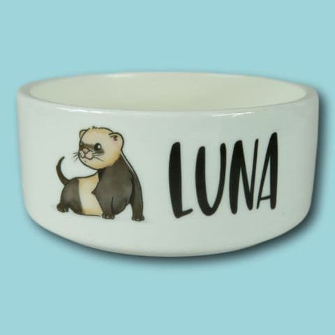 Personalised Pet Bowl | Small Ferret bowl | New ferret present | ferret bowl | pet bowl animal bowl