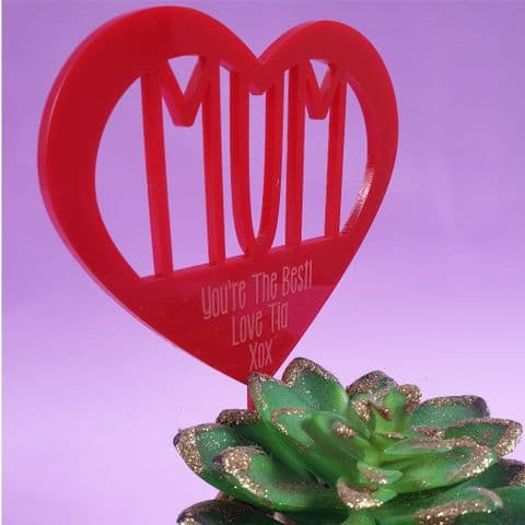 Personalised plant decoration Mothers Day Gift Flower Ornament Flower Tag Mum Gift