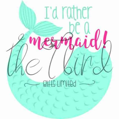 Rather be a mermaid ~ mermaid gift ~ quirky gift ~ mermaid lover ~ rather be a