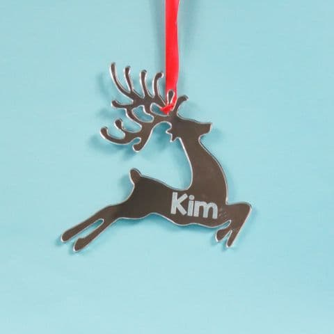 Reindeer Christmas Decoration Mirror Acrylic Xmas Time Family Christmas Tree