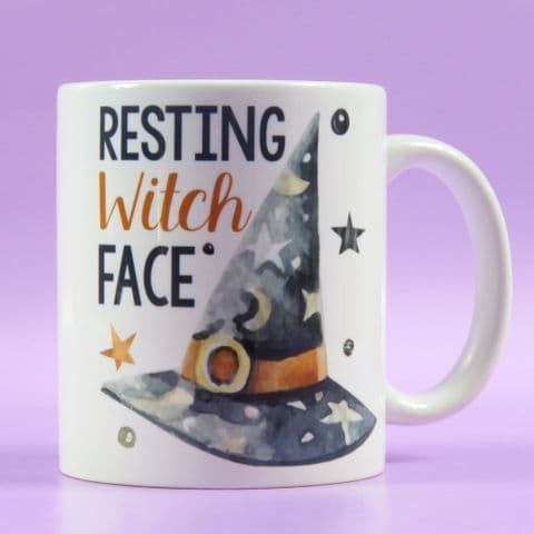 Resting Witch Face Halloween Witches Mug Sassy Office Mug Resting Bitch Face Funny Mug Coffee Cup